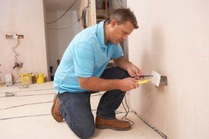 electrician installing and repairing